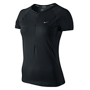 Nike Sphere Womens Short Sleeve 1-2 Zip Top